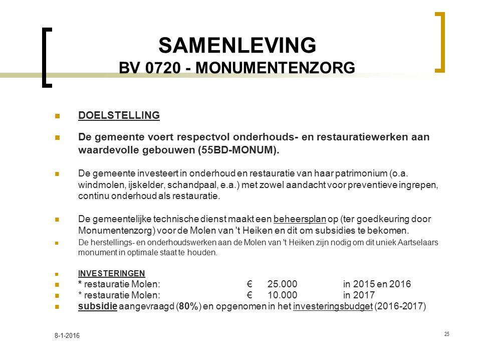 SAMENLEVING BV 0720 - MONUMENTENZORG