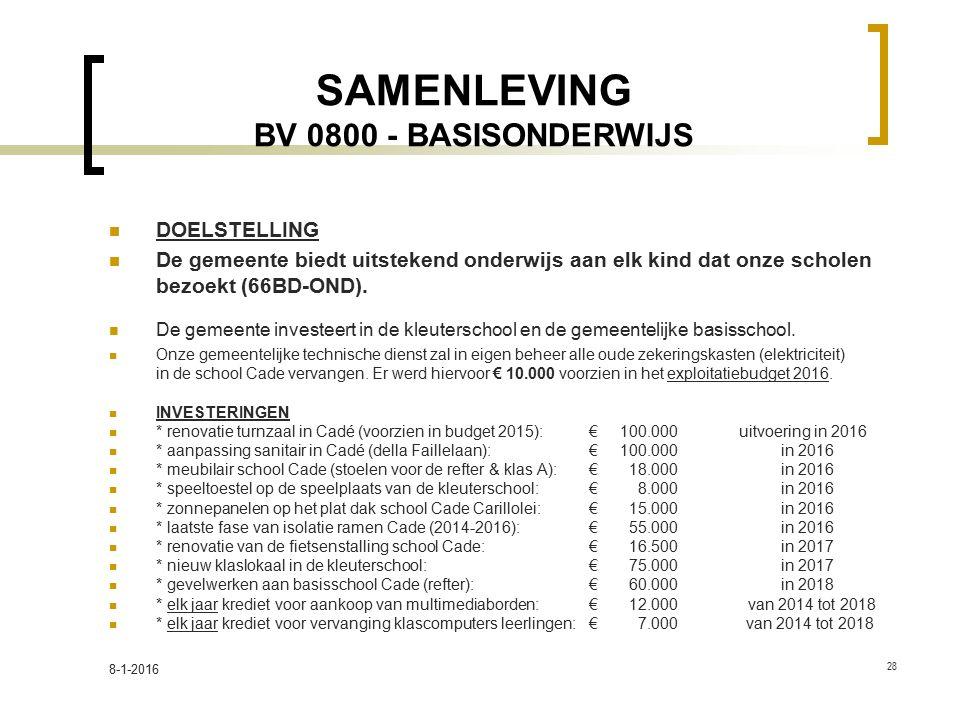 SAMENLEVING BV 0800 - BASISONDERWIJS