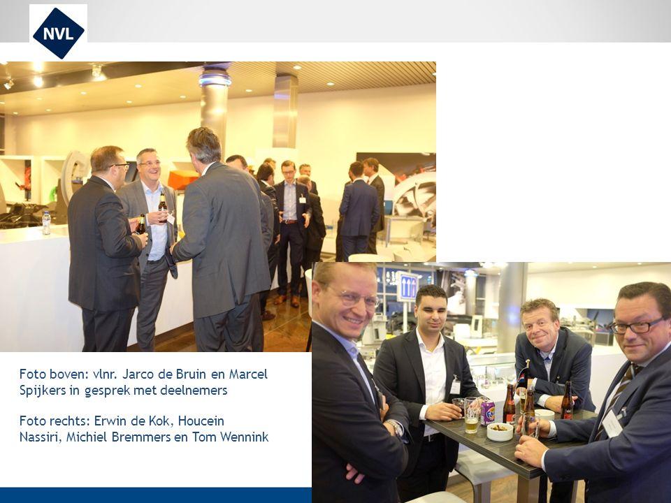 Foto boven: vlnr. Jarco de Bruin en Marcel Spijkers in gesprek met deelnemers