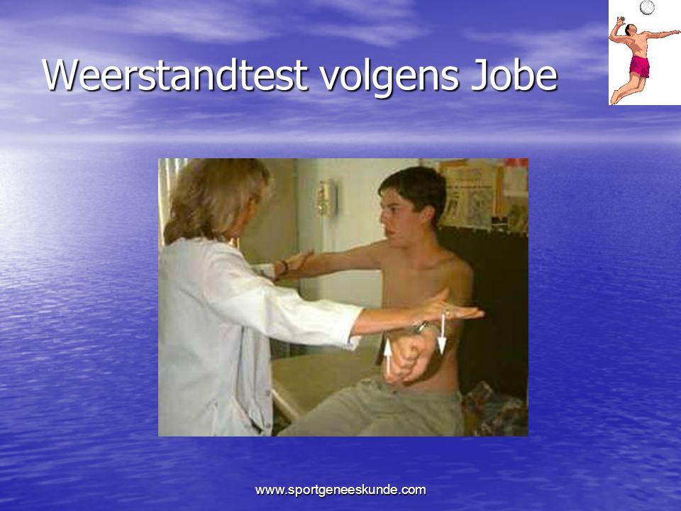 Weerstandtest volgens Jobe