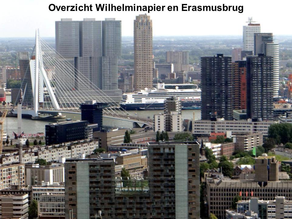 Overzicht Wilhelminapier en Erasmusbrug