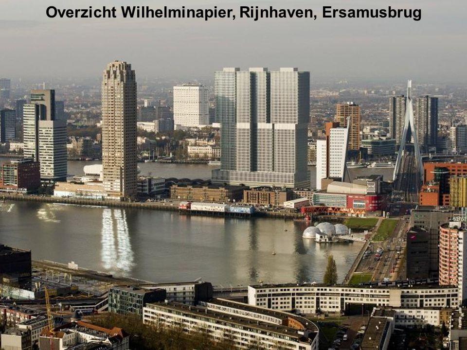 Overzicht Wilhelminapier, Rijnhaven, Ersamusbrug