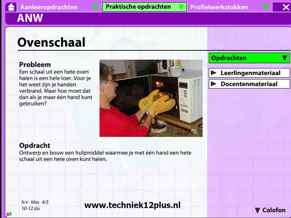 Een opdracht uit de website www. techniek12plus