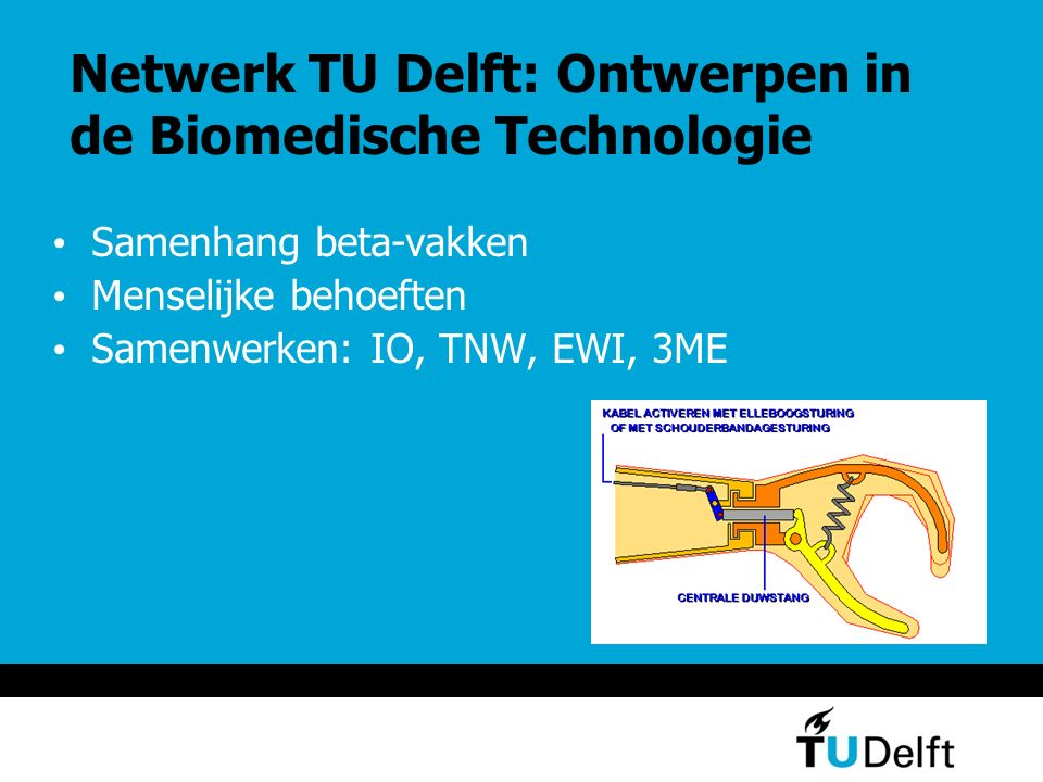 Netwerk TU Delft: Ontwerpen in de Biomedische Technologie