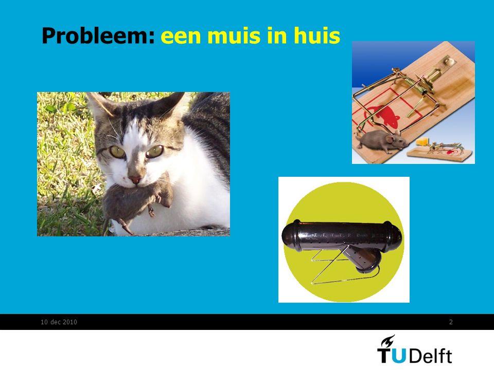 Probleem: een muis in huis