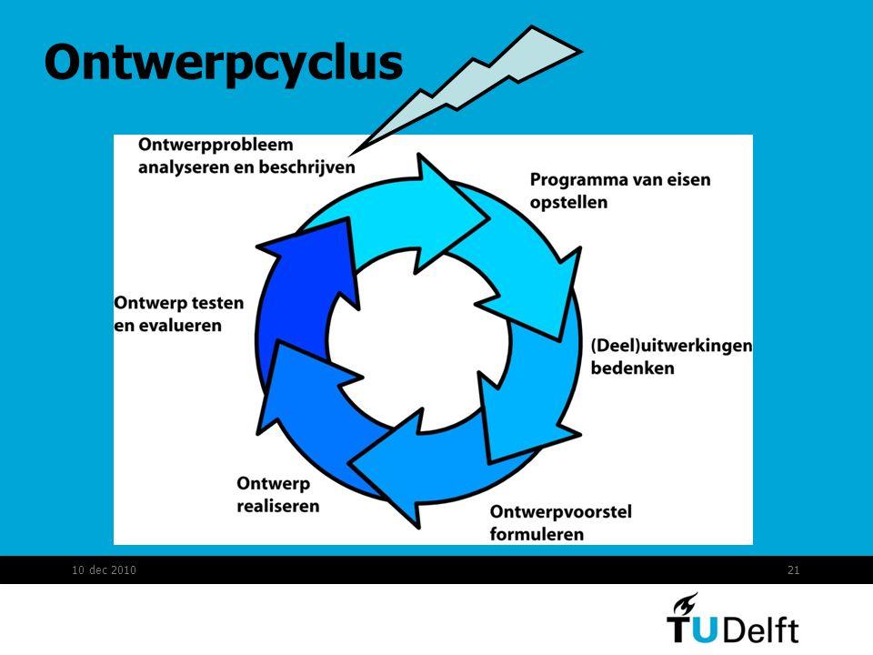 Ontwerpcyclus 10 dec 2010