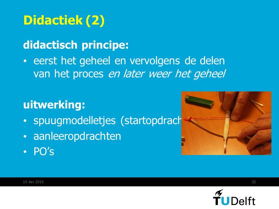 Didactiek (2) didactisch principe: