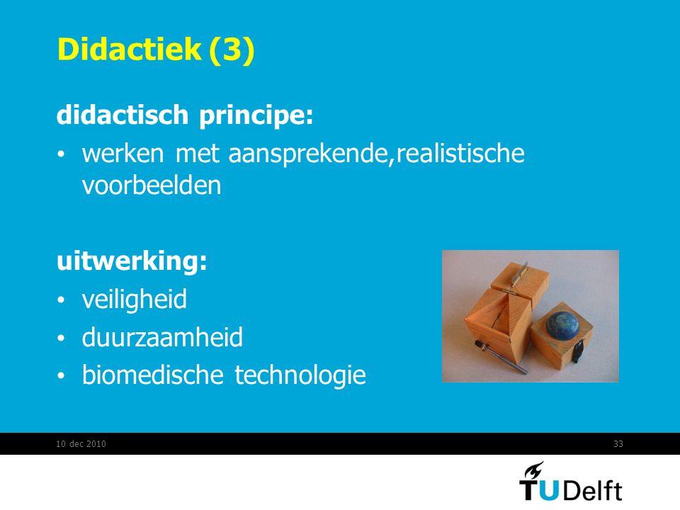 Didactiek (3) didactisch principe: