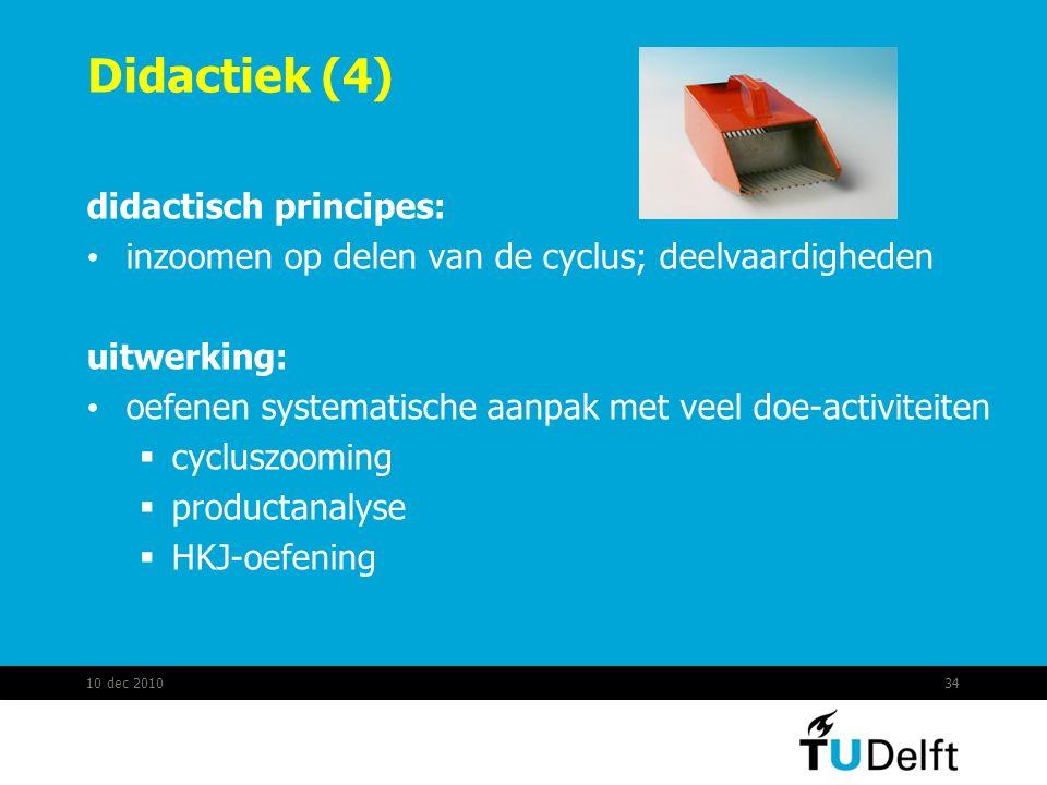 Didactiek (4) didactisch principes: