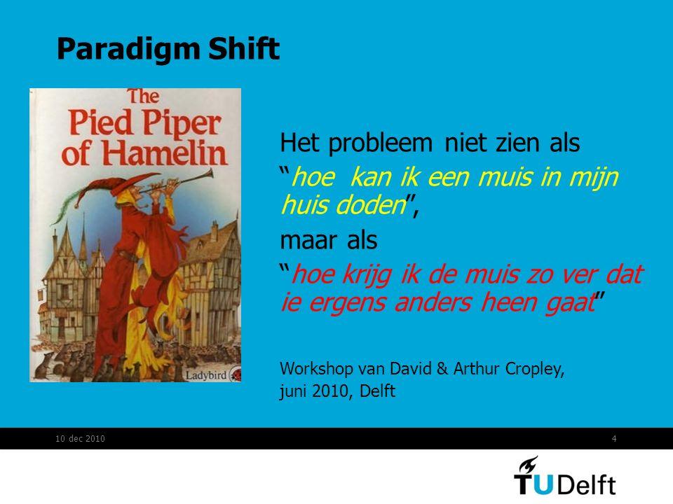 Paradigm Shift Het probleem niet zien als