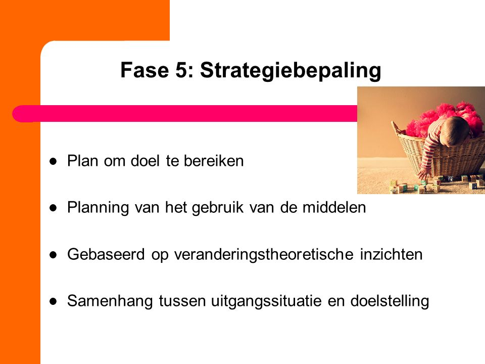 Fase 5: Strategiebepaling