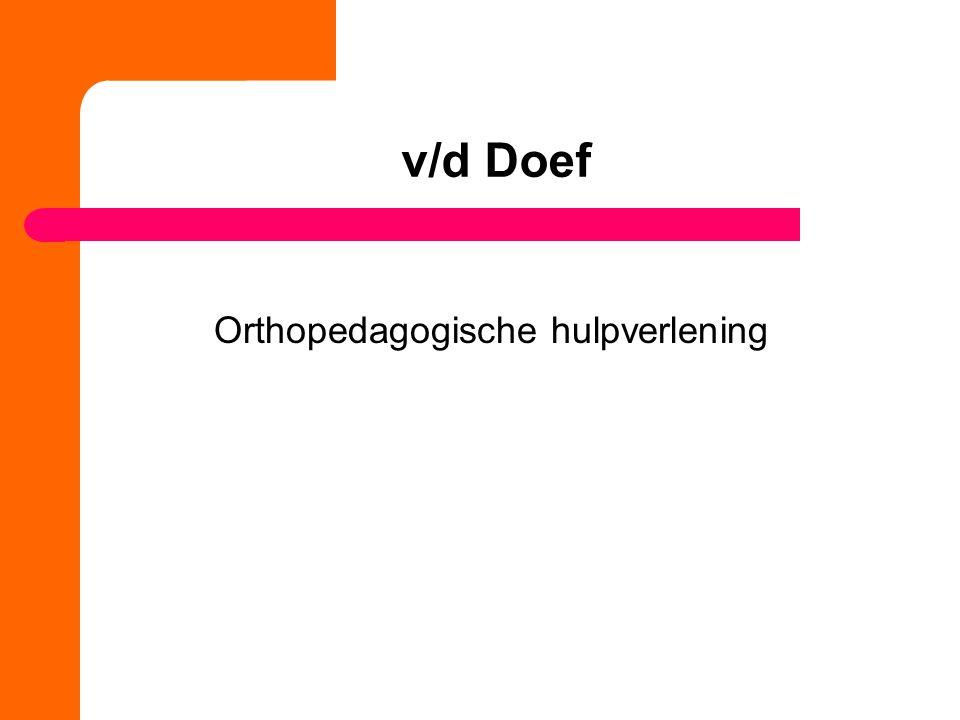 Orthopedagogische hulpverlening