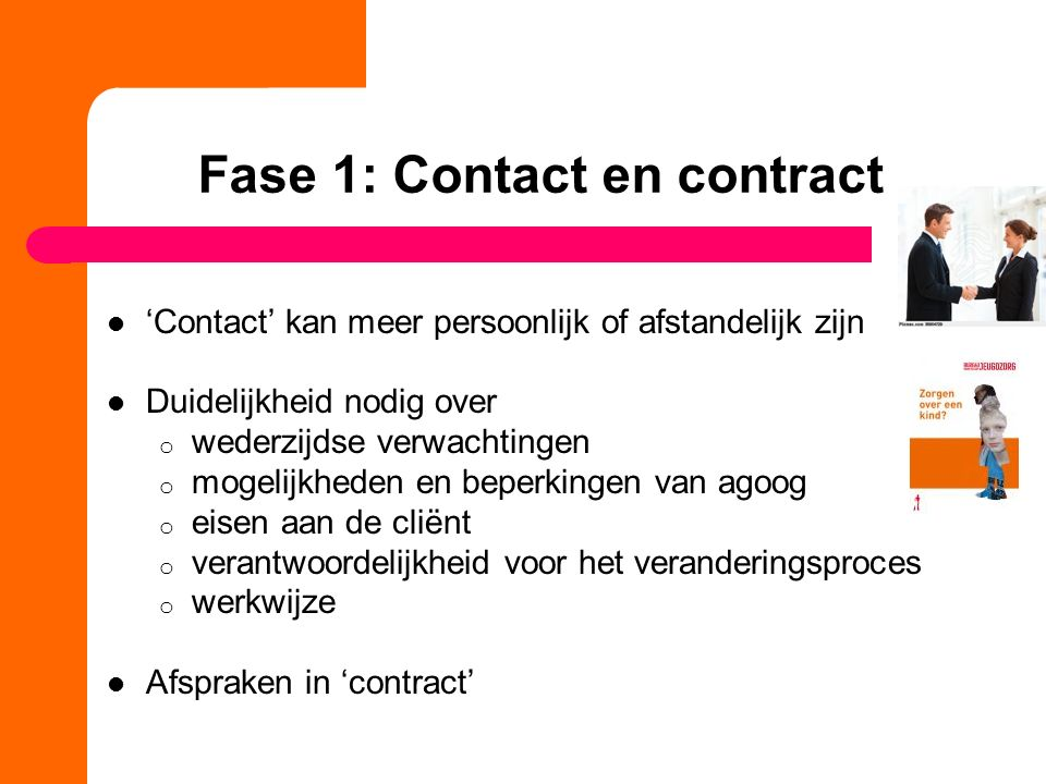 Fase 1: Contact en contract