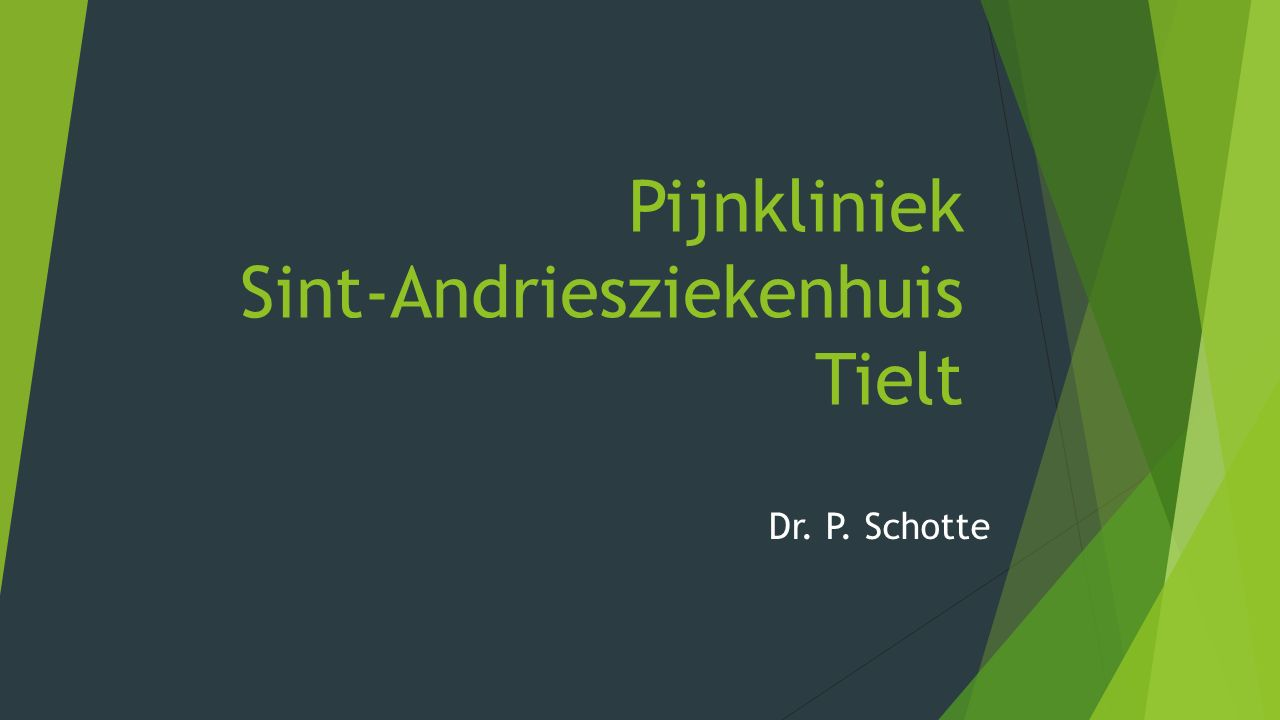 Pijnkliniek Sint-Andriesziekenhuis Tielt