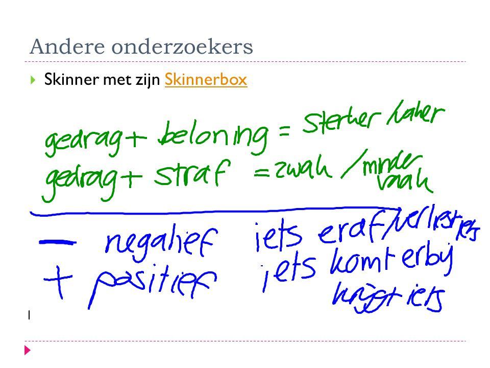 Andere onderzoekers Skinner met zijn Skinnerbox
