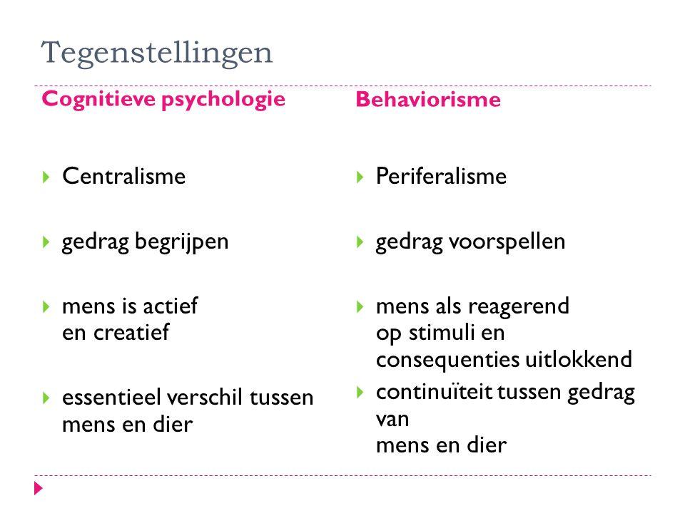 Tegenstellingen Centralisme gedrag begrijpen
