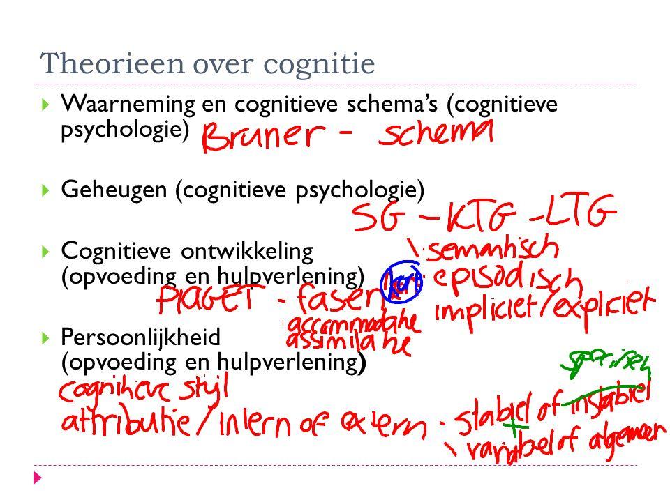 Theorieen over cognitie