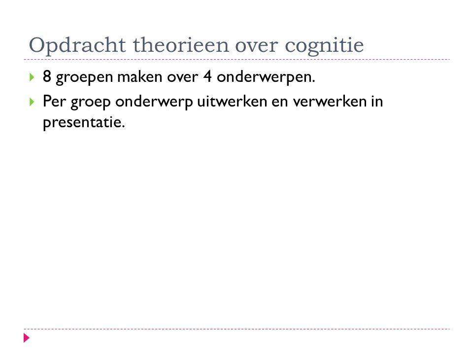 Opdracht theorieen over cognitie
