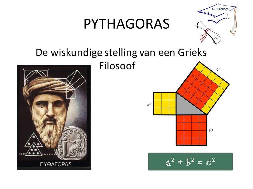 PYTHAGORAS De wiskundige stelling van een Grieks Filosoof