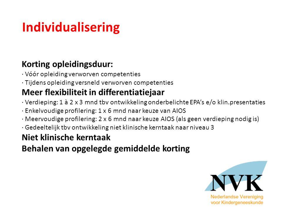 Individualisering Korting opleidingsduur:
