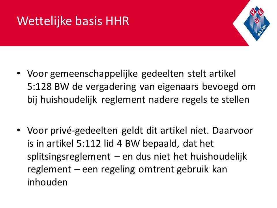 Wettelijke basis HHR