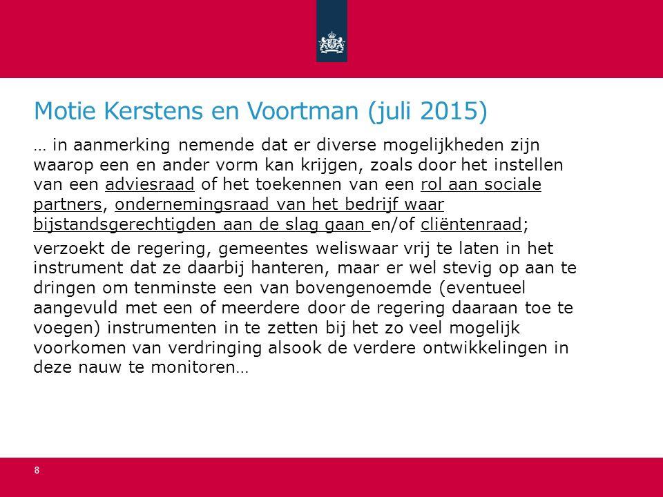 Motie Kerstens en Voortman (juli 2015)