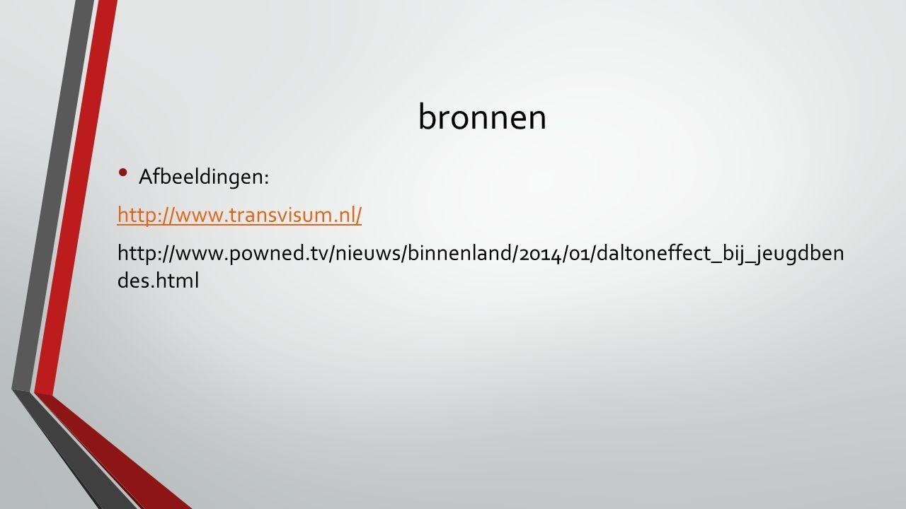 bronnen Afbeeldingen: http://www.transvisum.nl/