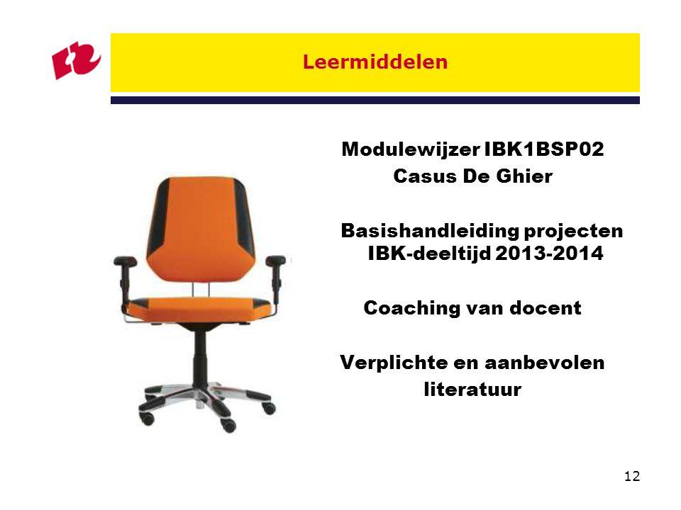 Basishandleiding projecten IBK-deeltijd 2013-2014