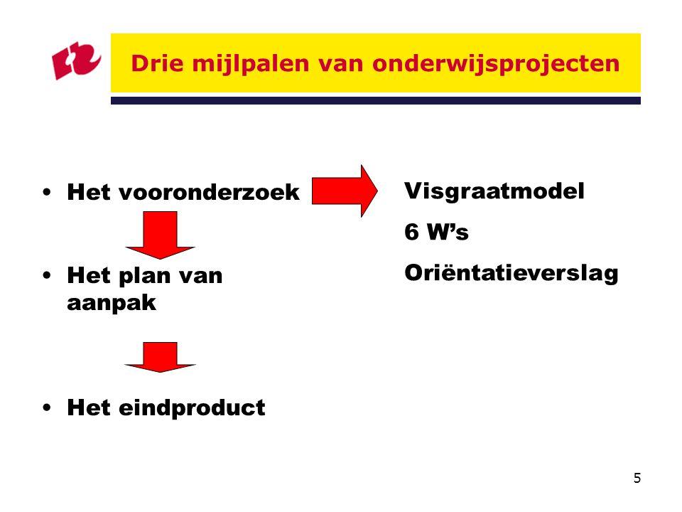Drie mijlpalen van onderwijsprojecten