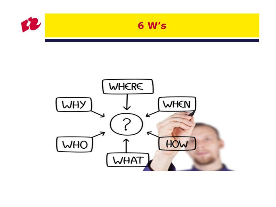 6 W's