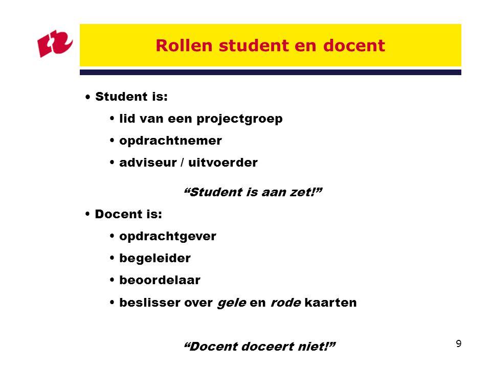Rollen student en docent