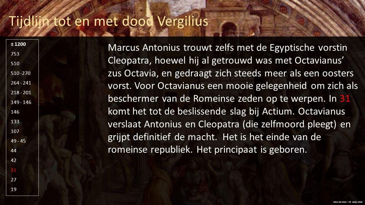 Tijdlijn tot en met dood Vergilius