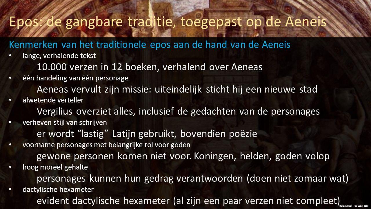 Epos: de gangbare traditie, toegepast op de Aeneis