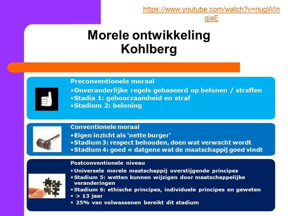 Morele ontwikkeling Kohlberg