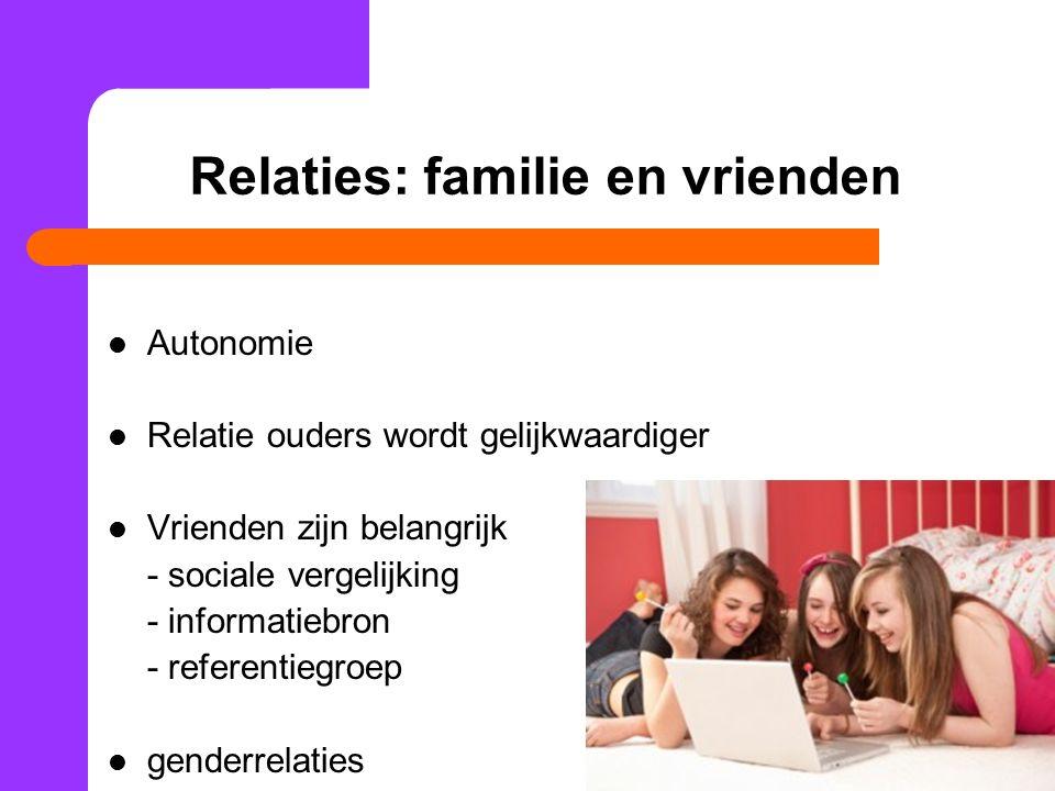 Relaties: familie en vrienden