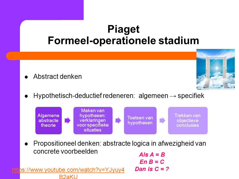 Piaget Formeel-operationele stadium