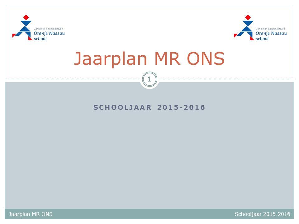 Jaarplan MR ONS schooljaar 2015-2016