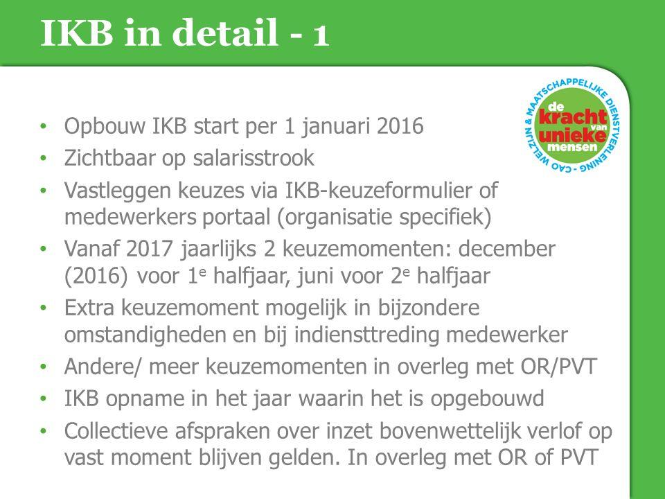 IKB in detail - 1 Opbouw IKB start per 1 januari 2016