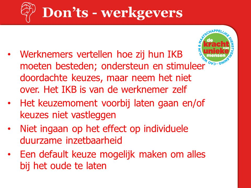 Don'ts - werkgevers 18-06-15.