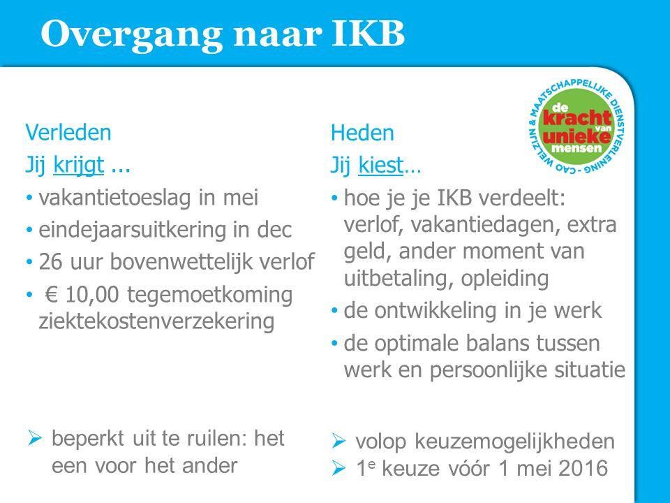 Overgang naar IKB Verleden Jij krijgt ... vakantietoeslag in mei