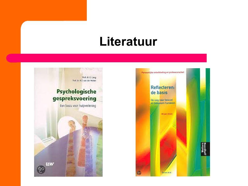 Literatuur Hulpmiddel: geheugenstick Opnameapparatuur
