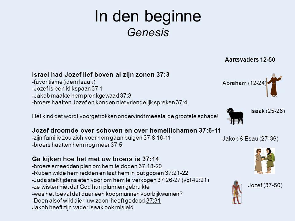 In den beginne Genesis Israel had Jozef lief boven al zijn zonen 37:3