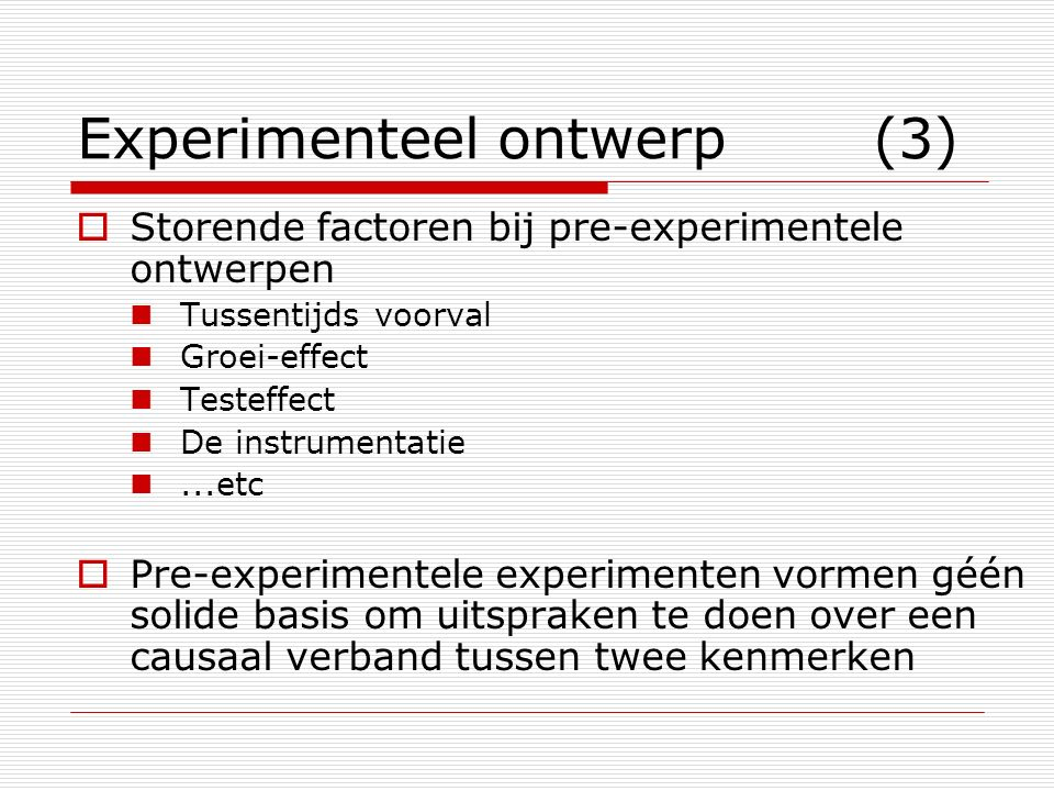 Experimenteel ontwerp (3)