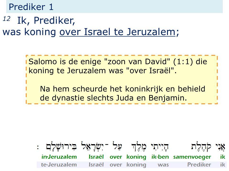 was koning over Israel te Jeruzalem;
