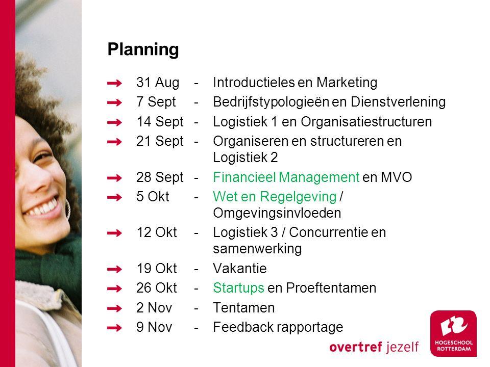Planning 31 Aug - Introductieles en Marketing