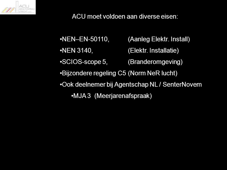 ACU moet voldoen aan diverse eisen: