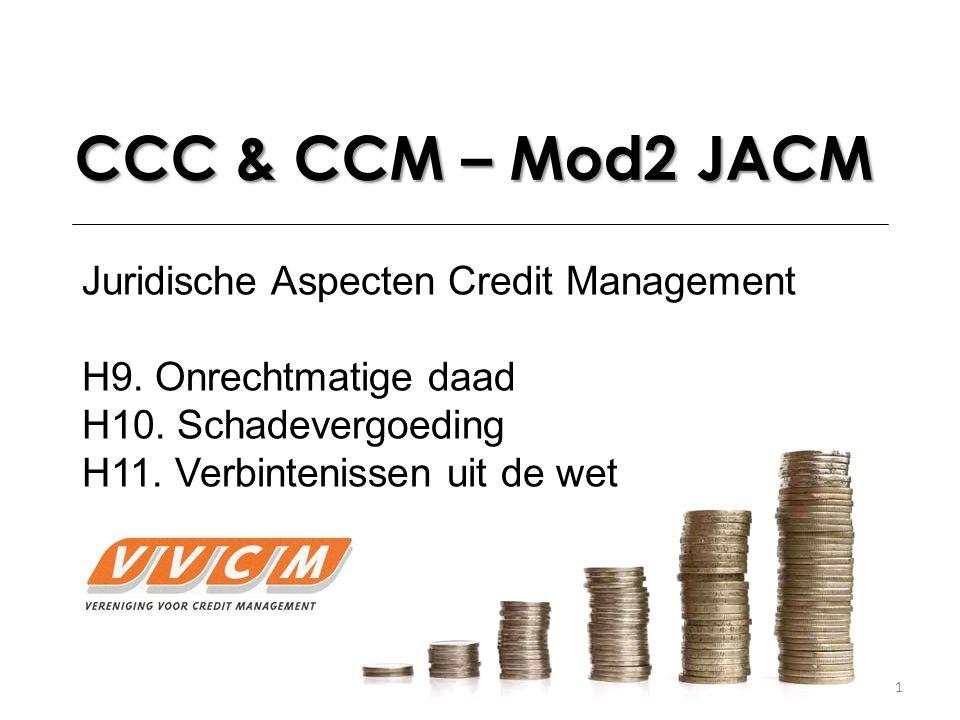 CCC & CCM – Mod2 JACM Juridische Aspecten Credit Management