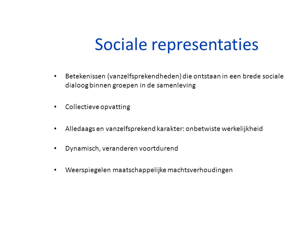 Sociale representaties