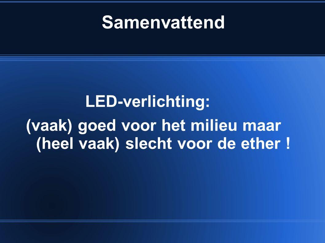 Samenvattend LED-verlichting: