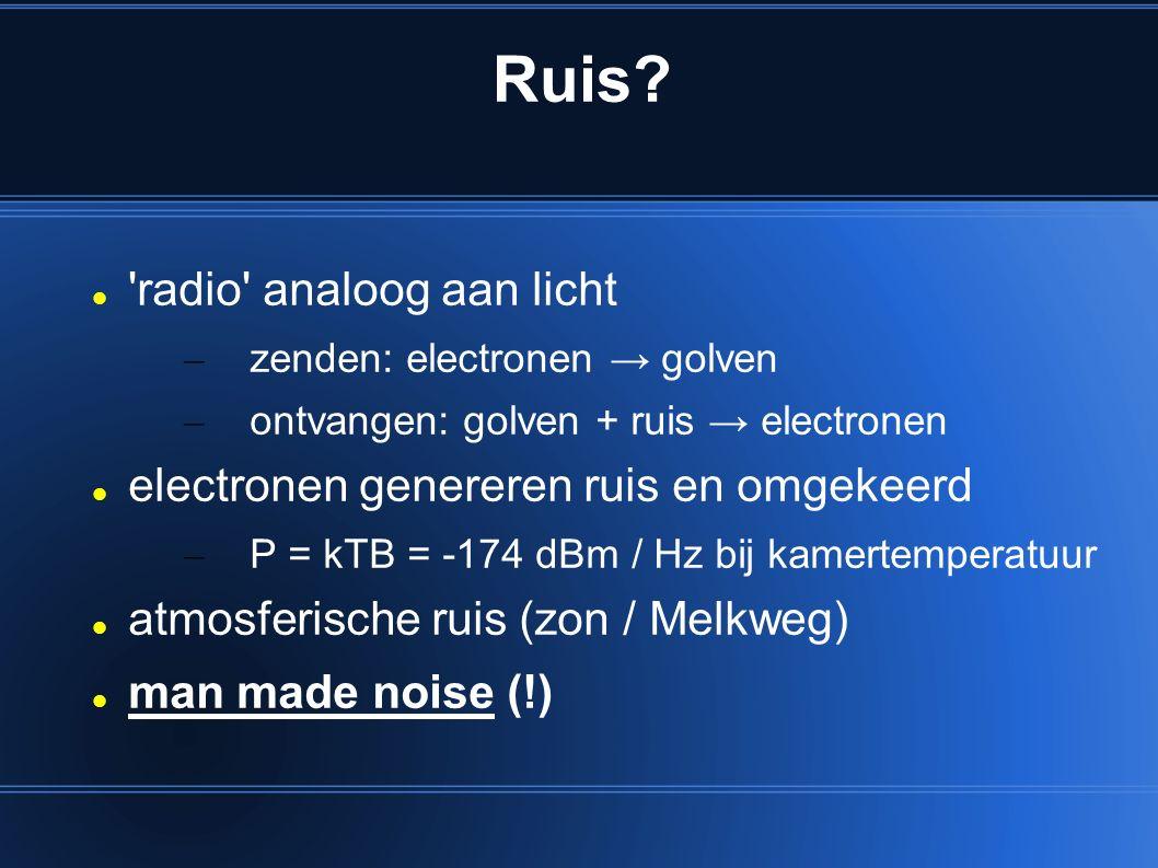 Ruis radio analoog aan licht electronen genereren ruis en omgekeerd